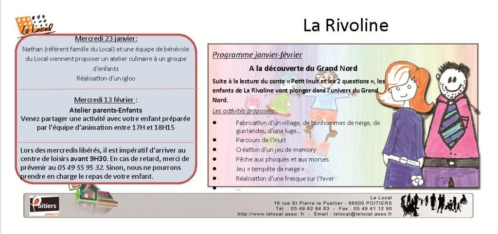 Programme La Rivoline Janvier-Février