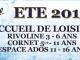 Inscriptions été – Accueils de Loisirs La Rivoline, Cornet et le Secteur Ados