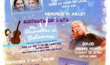 Le Bistrot de l'été : mercredi 13 juillet, un spectacle pour les jeunes, un concert de blues pour les plus grands…