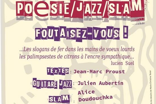 Les Jeudis du Bar :  poésie, Jazz et Slam le17 novembre à 19h – Entrée libre