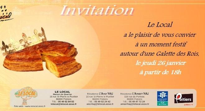 Invitation à la Galette des Rois du Local  : Jeudi 26 janvier à 18h