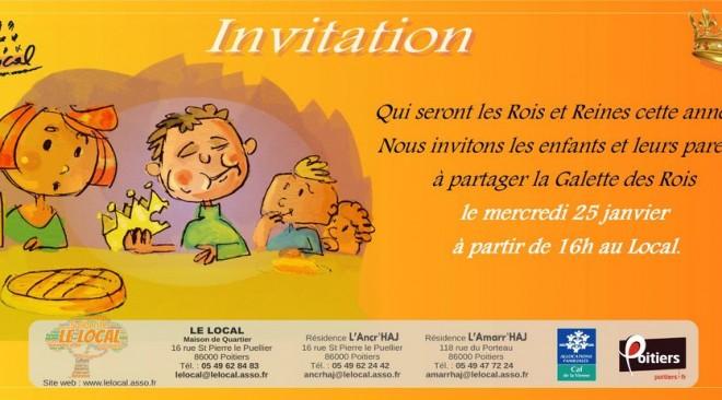 Dégustation de la Galette des Rois pour les enfants : mercredi 25 janvier à 16h