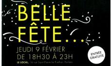 La Belle Fête au Local, jeudi 9 février de 18h30 à 23h