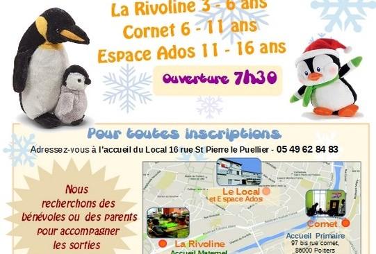 Programme des activités des vacances d'hiver 2017 pour les Accueils de Loisirs (enfants et ados)