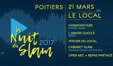 La Nuit du Slam au Local : mardi 21 mars de 19h  à 22h30
