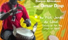 Jeudi 29 juin à 19h : Musique Africaine au P'tit Jardin, entrée Libre