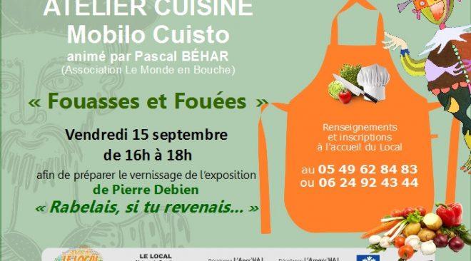 Vendredi 15 septembre de 16h à 18h : atelier cuisine Mobilo Cuisto