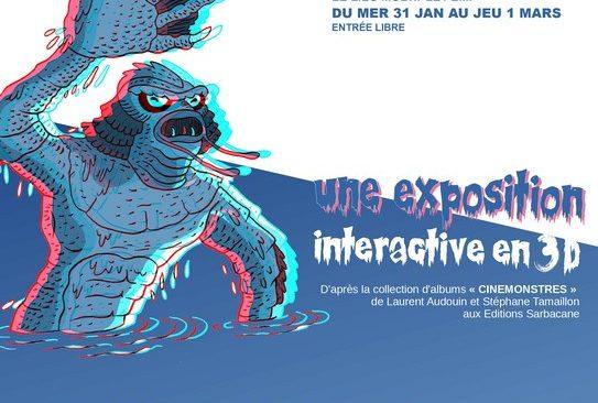Mercredi 31 janvier : vernissage de l'exposition «Cinémonstres» de Laurent Audouin