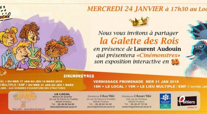 Mercredi 24 janvier à 17h30 : dégustation de la Galette des Rois