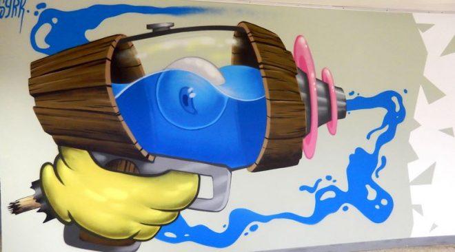 Espace Galerie du Local   « Entre Toile et Street Art »  toiles, graffs et sérigraphies de Syrk.