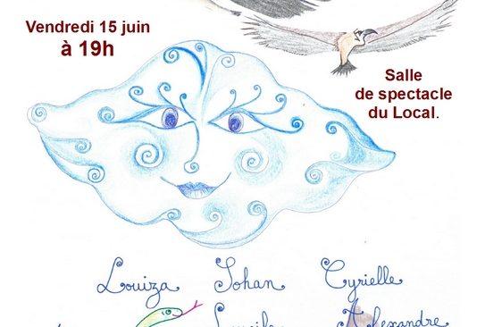 Vendredi 15 juin à 19h, l'atelier 6/8 ans du Théâtre-Ecole du Local présente trois histoires de Tomi Ungerer