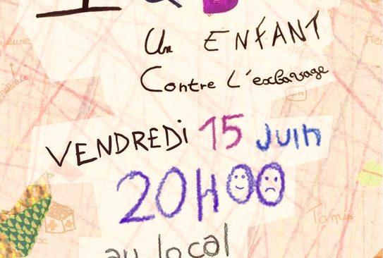 Vendredi 15 juin à 20h, L'atelier 9/11 ans du Théâtre-Ecole du Local présente « Iqbal, un enfant contre l'esclavage »,