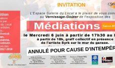 Mercredi 6 juin, visite-goûter à 17h30 et Graff collectif avec Syrk annulés pour cause d'intempéries
