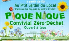 Dimanche 1er juillet, pique-nique Convivial Zéro Déchet au P'tit Jardin du Local