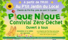 Vendredi 20 juillet à 19h30, pique-nique Convivial Zéro Déchet au P'tit Jardin du Local