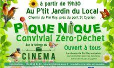 Samedi 21 juillet à 19h30, pique-nique Convivial Zéro Déchet au P'tit Jardin du Local