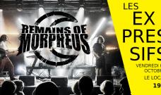 Vendredi 5 octobre 2018 à 19h : Concert de Musique expérimentale Post-Rock et Post_Métal avec le trio  Remains of Morpheus