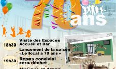 Jeudi 18 octobre 2018 à partir de 18h30 jusqu'à 23h, Le Local fête ses 70 ans !