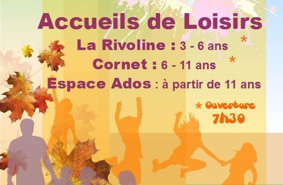 Programme d'activités des Accueils de Loisirs Enfants et Ados pour les vacances d'automne 2018