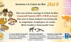 Mercredi 9 janvier 2019 à 17h30, présentation des Vœux et dégustation de Galette des Rois