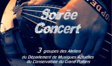 Jeudi 7 février 2019 : Soirée Concert avec 3 groupes du Département de Musiques Actuelles du Conservatoire de Poitiers