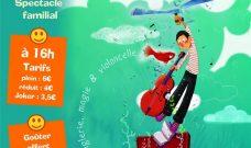 Dimanche 10 février 2019 à 16h  : un spectacle familial « Prélude pour un Poisson Rouge », création de la Cie Sans Gravité.