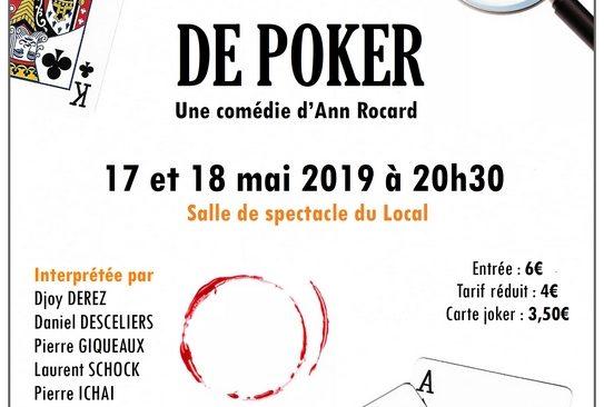 Vendredi 17 et Samedi 18 mai 2019 à 20h30 : Théatre