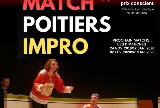 Dimanche 20 octobre 2019 à 17h :  Match #1 d'Impro Théâtrale