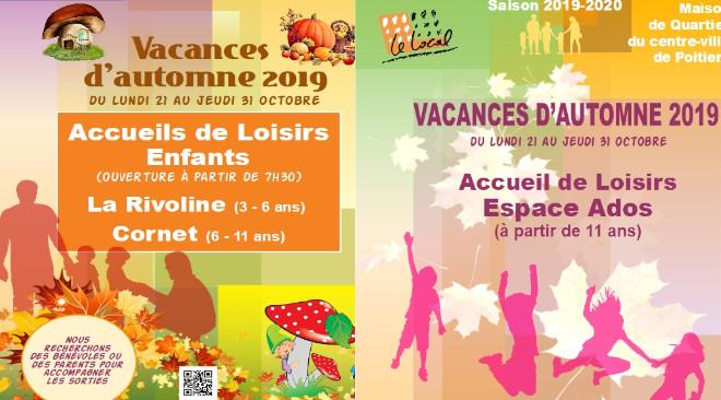 Programme d'activités des Accueils de Loisirs Enfants et Ados pour les vacances d'automne 2019