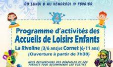 Programme d'activités des Accueils de Loisirs Enfants pour les vacances d'hiver 2021