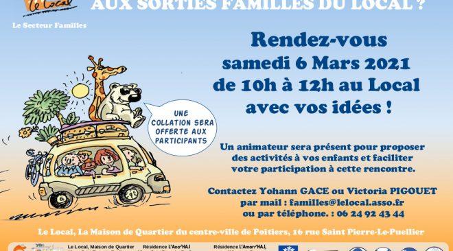 Vous voulez participer aux Sorties Familles du Local ?