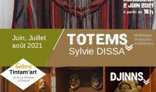 Mercredi 2 juin 2021 à 18h : vernissage de l'exposition « Totems » de Sylvie Dissa