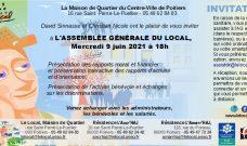 Mercredi 9 juin 2021 à 18h : AG du Local (Bilan 2020)