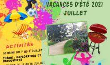 Programme des activités de L'Accueil de Loisirs Cornet  pour les vacances d'été 2021