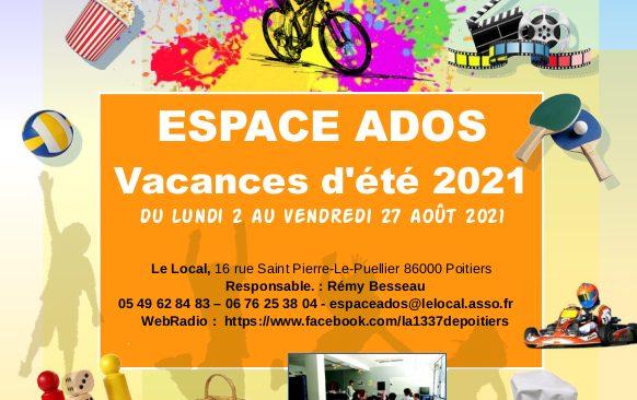 Les activités au mois d'août 2021 pour les ados de L'Espace Ados du Local