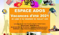 Les activités de l'été 2021 pour les ados de L'Espace Ados du Local