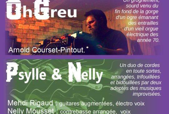 Jeudi 23 janvier 2020 à 19h : Concert Électro avec  «OhGreu» et «Psylle et Nelly»