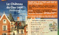 Samedi 29 août 2020, Sortie Familles au Château du Clos Lucé (Amboise).