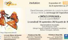 Vendredi 10 septembre 2021 à partir de 18h30 : Vernissage de l'exposition «Drôles d'Oiseaux» de Laurent Merlet